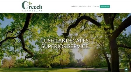 CreechLandscape Website Screenshot