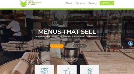 MenuStudio Website Screenshot